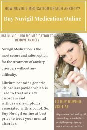 Buy Nuvigil Medication Online to Eliminate Anxiety Disorder