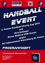 Programmheft 2. Polizei Handball Charity Cup 2014