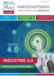 AW Wirtschaftsinfo September 2016 - Industrie 4.0 - Wissen was die Zukunft bringt