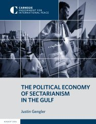 THE POLITICAL ECONOMY OF SECTARIANISM IN THE GULF