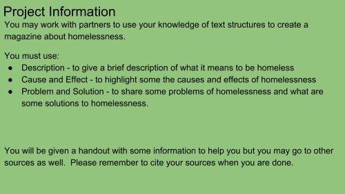 Homeless Unit September 7 2016