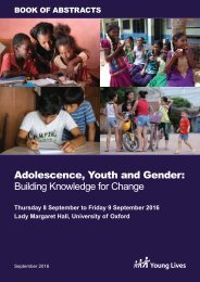 Adolescence Youth and Gender Building Knowledge for Change