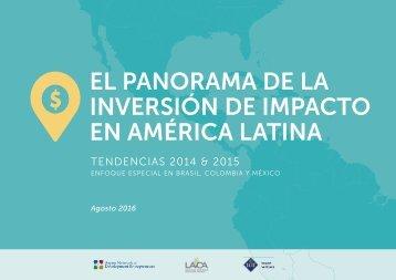 EL PANoRAMA DE LA INVERsIóN DE IMPACTo EN AMéRICA LATINA