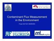 Contaminant Flux Measurement in the Environment