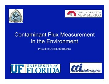 Contaminant Flux Measurement in the Environment