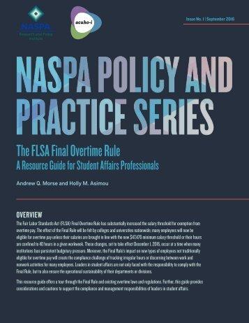 The FLSA Final Overtime Rule