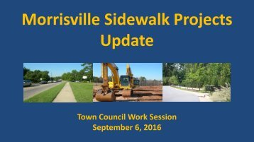 Morrisville Sidewalk Projects Update