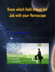 Know which field is best for Job with your Horoscope
