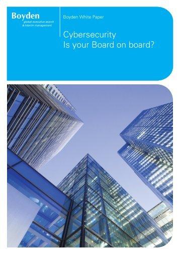 Cybersecurity Is your Board on board?
