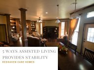 Five Ways Assisted Living Provides Stability