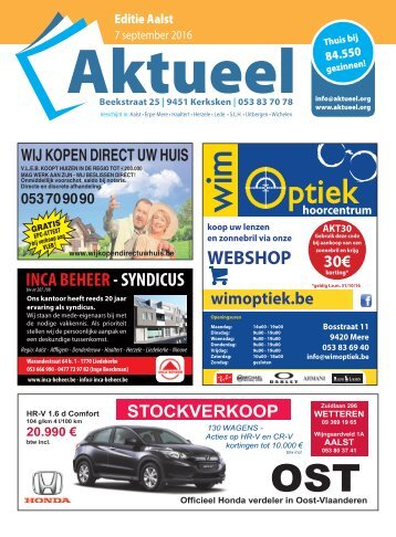 Editie Aalst 7 september 2016