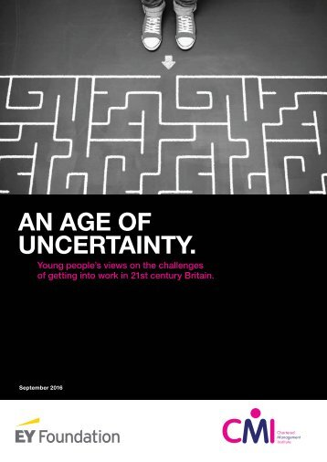 AN AGE OF UNCERTAINTY
