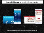Have a Mobile App for your Business Growth?