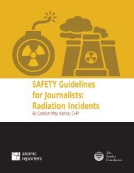 SAFETY Guidelines for Journalists Radiation Incidents