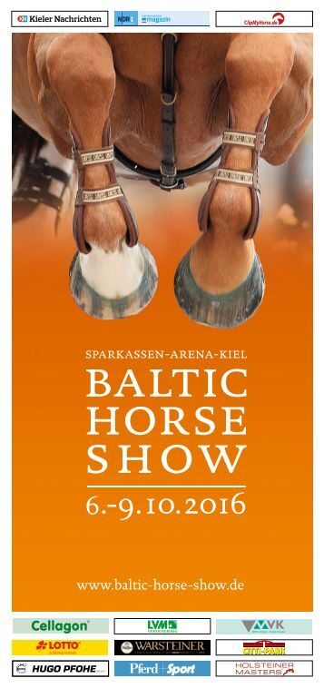 Baltic Horse Show 2016 Flyer