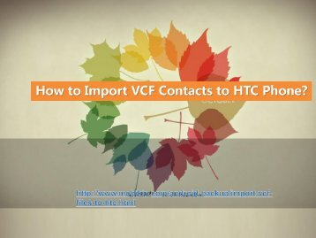 How to Import VCF Contacts to HTC Phone ?