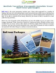 Bali packages  for an immaculate excursion