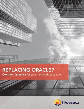 REPLACING ORACLE?