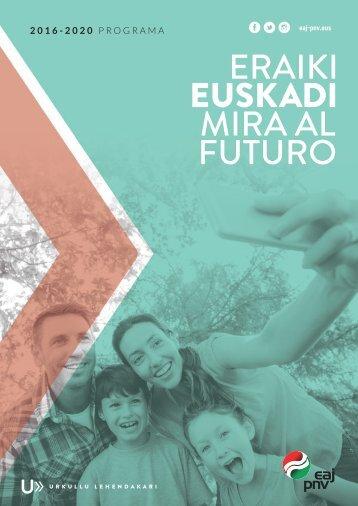 EAJ-PNVren egitasmoa 2016ko Eusko Legebiltzarreko hauteskundeetarako