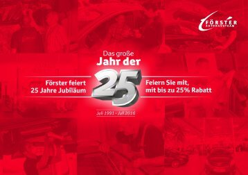 25 Jahre Team Foerster