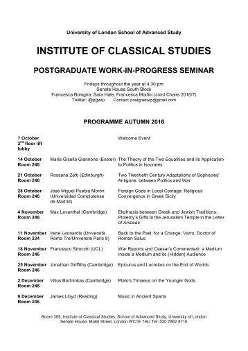 PGWiP schedule Autumn 2016 (1)