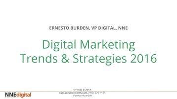 Digital Marketing Presentation - Ernesto Burden