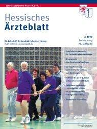 Hessisches Ärzteblatt Januar 2009 - Landesärztekammer Hessen