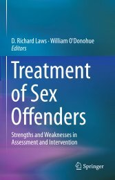 Treatment of Sex Offenders