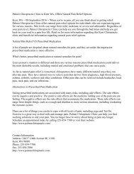 Knox County Chiropractic Office, Hayden Chiropractic, Offers Natural Pain Relief Options