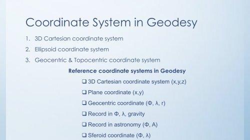 Kegunaan Datum - Geodesi