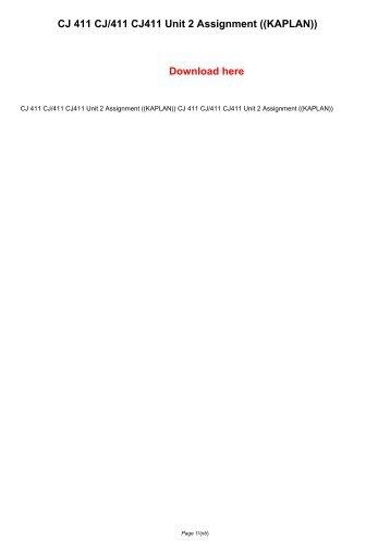 dcarter cj370 unit5assignment