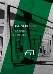 Park Books New Titles Autumn 2017