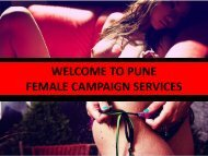 FEMALE CAMPANING IN PUNE  BY SWATI LOOMBA