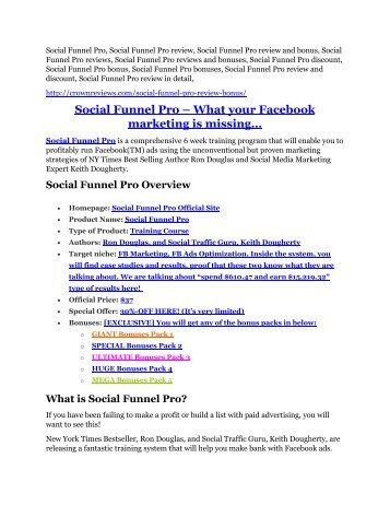 Social Funnel Pro review-$26,800 bonus & discount