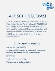 Student E Help   ACC 561 - ACC 561 Final Exam Answers Free