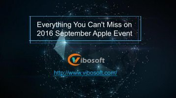 Everything You Can't Miss on 2016 September Apple Event!