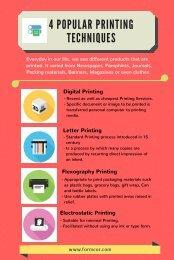 4 Printing Techniques
