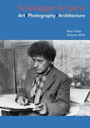 Scheidegger & Spiess New Titles Autumn 2016