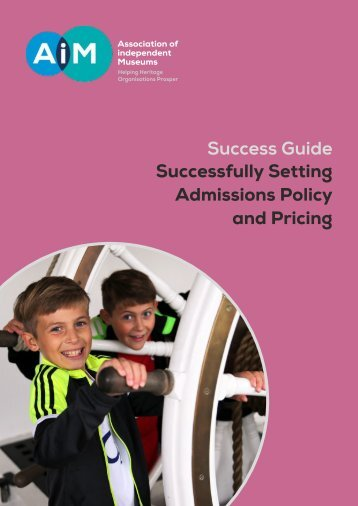 Success Guide Successfully Setting Admissions Policy and Pricing