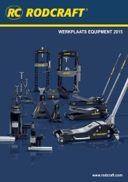 Rodcraft werkplaats equipment