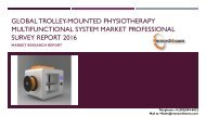 Global Trolley-mounted Physiotherapy Multifunctional System Market Professional Survey Report 2016
