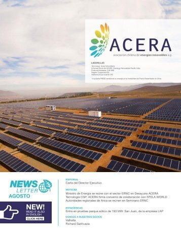 Newsletter ACERA Agosto 2016