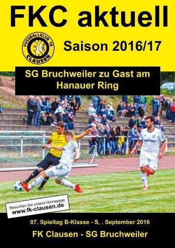 FKC Aktuell - 07. Spieltag - Saison 2016/2017