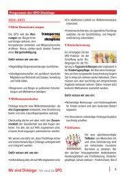 2016 Programm SPD Dinklage