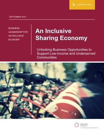 An Inclusive Sharing Economy