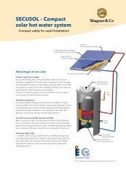 SECUSOL – Compact solar hot water system