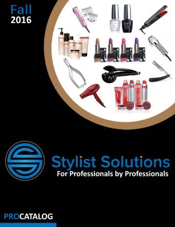 Stylist Solutions Fall 2016 Catalog