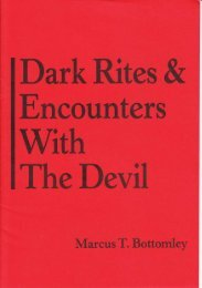 Dark Rites: Encounters with the Devil