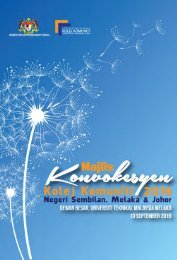 E-Book Majlis Konvokesyen Kolej Komuniti Negeri Sembilan, Melaka & Johor 2016 - Desktop View