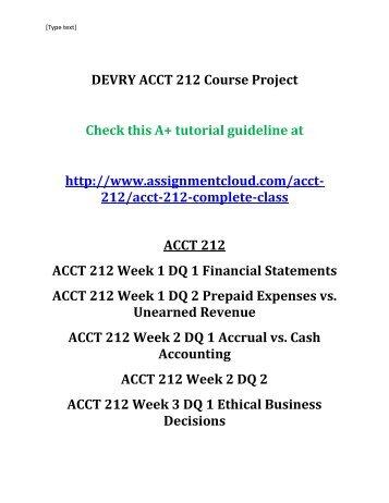 DEVRY ACCT 211